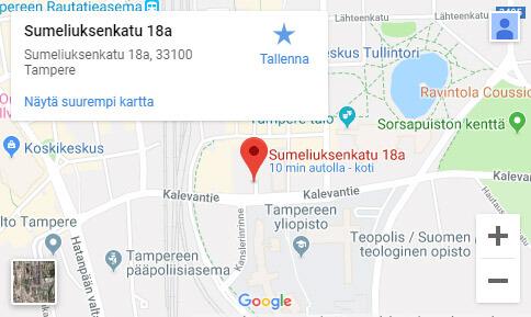 Hieroja Helander Tampereen osoite